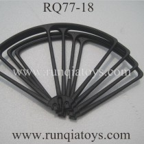 RUNQIA RQ77-18 Quadcopter blades Guards black