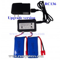 RC Leading RC136 7.4V Battery and upgrade charger