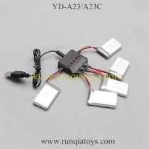 Attop YD-A23 A23C drone battery and charger
