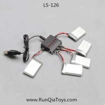 Liansheng LS126 Quadcopter battery and USB Charger