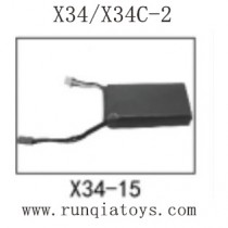 SONG YANG TOYS X34 Parts-Battery X34-15
