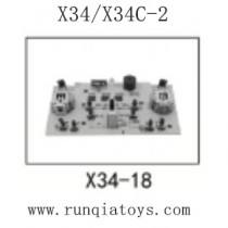 SONG YANG TOYS X34 Parts-Transmitter Board X34-18