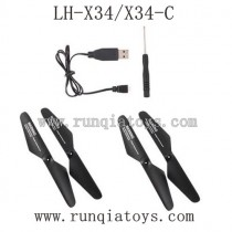 Lead Honor LH-X34 Parts Propellers and Charger