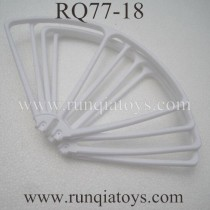 RUNQIA RQ77-18 Quadcopter blades Guards white