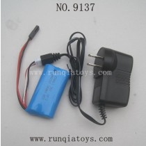 XINLEHONG TOYS 9137 Parts-Battery and US Charger