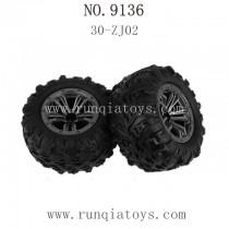 XINLEHONG TOYS 9136 Parts-Tire 30-ZJ02