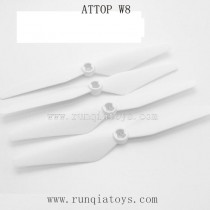ATTOP W8 1080P GPS-Propellers