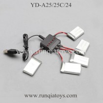 Attop YD-A25 drone Charger Battery kits
