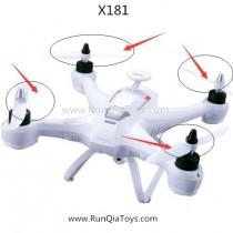 Xinlin Shiye X181 fpv quadcopter propeller