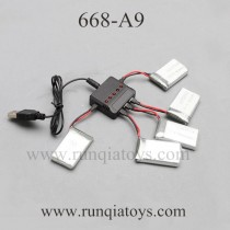 YU XIANG 668-A9 drone upgrade Charger and battery