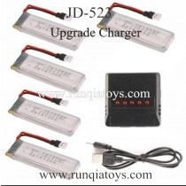 JinXingDa JXD-523 Quadcopter Lipo Battery and Charger