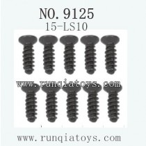 XINLEHONG Toys 9125 Car Parts Countersunk Head Screw 2.6X8KBHO 15-LS10