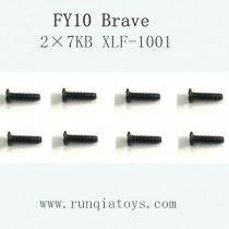 Feiyue fy-10 parts-Screw 2×7KB XLF-1001