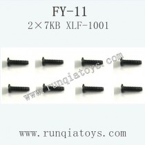 FeiYue FY-11 Car parts-Screw 2×7KB XLF-1001