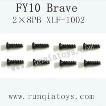 Feiyue fy-10 parts-Screw 2×8PB XLF-1002