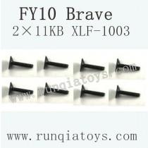 Feiyue fy-10 parts-Screw 2×11KB XLF-1003