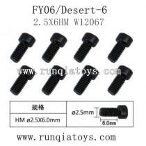 Feiyue fy06 parts-Hexagonal Cup Head Machine Silk Screw W12067