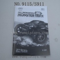 XINLEHONG Toys 9115 parts-English Manual